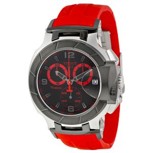 T-Race Chronograph Black Dial Red Strap
